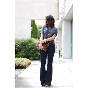 Madewell flea market flare dark wash jeans